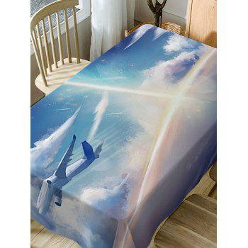 Airplane In The Sky Print Waterproof Dining Table Cloth - LAKE BLUE W54 INCH * L54 INCH