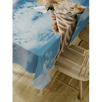 Giraffe Print Waterproof Dining Table Cloth - COLORMIX W54 INCH * L72 INCH