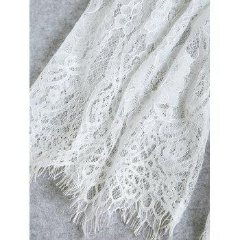 Lingerie Lace See Through Dress - WHITE M