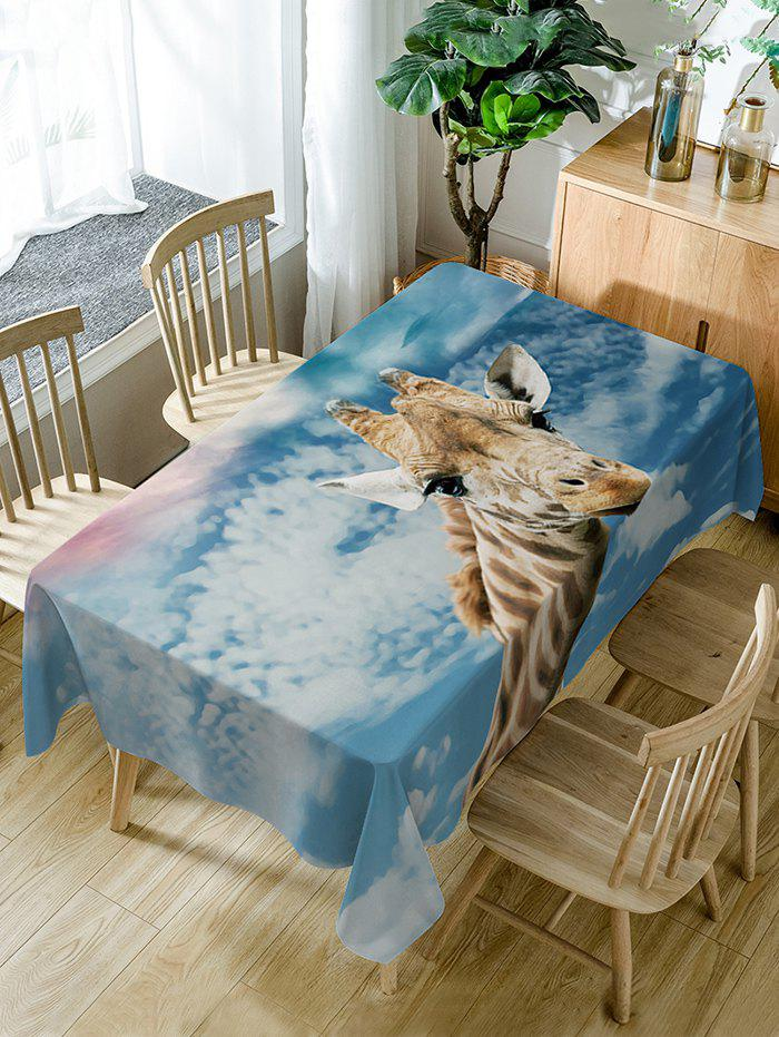 Giraffe Print Waterproof Dining Table Cloth - COLORMIX W60 INCH * L84 INCH