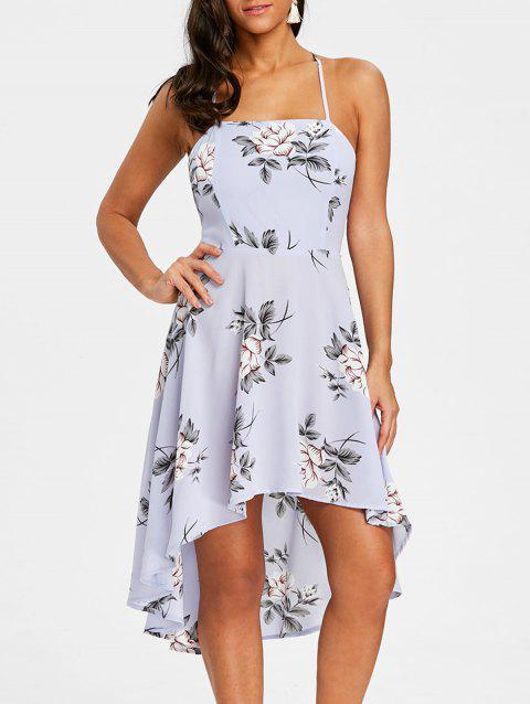 Floral Print Cami Dress - BLUE M