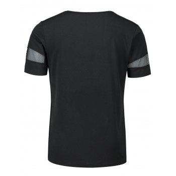 Shredding See Thru Crew Neck T-shirt - BLACK 2XL