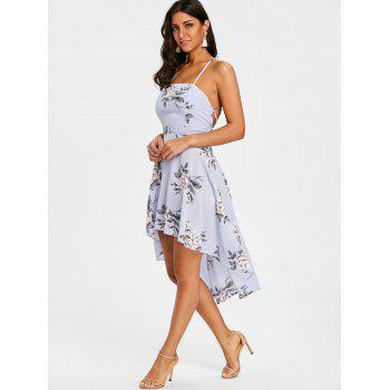 Floral Print Cami Dress - BLUE S