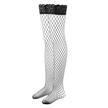 Fishnet Thigh Highs Stockings - BLACK ONE SIZE