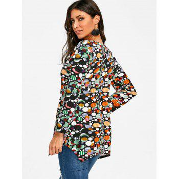 Full Sleeve Ellipse T-shirt - FLORAL M