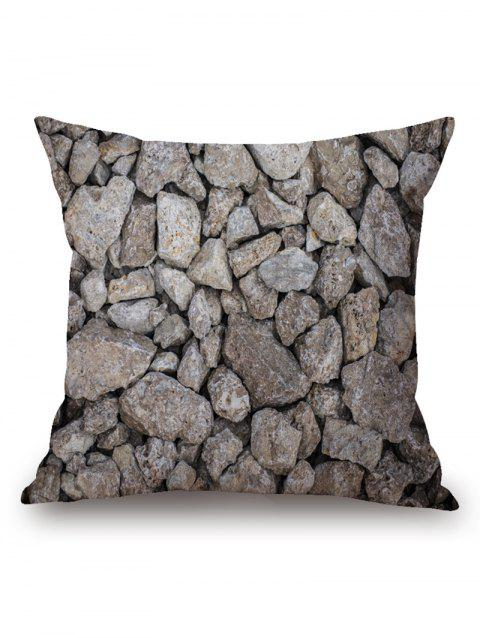 Rock Stones Print Throw Pillow Case - GRAY 45CM*45CM