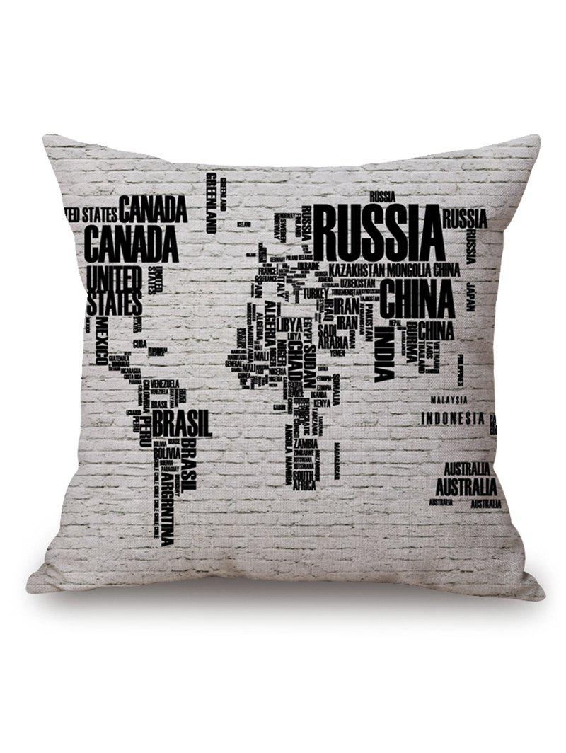 World Map in English Print Throw Pillow Case 300ml world map change color cup discolored in case of hot water