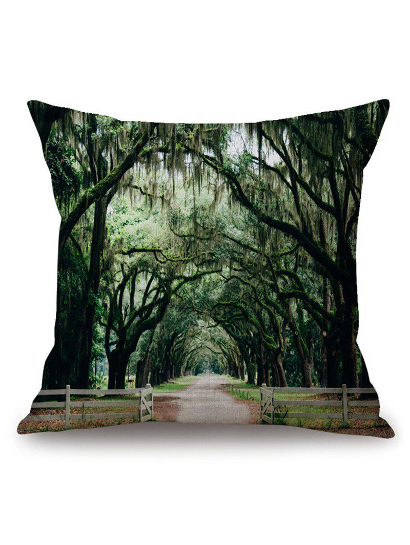 Nature Forest Path Print Throw Pillow Case merry christmas grass cushion throw pillow case