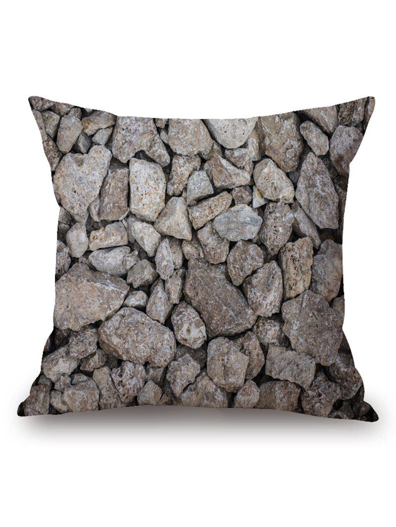 Rock Stones Print Throw Pillow Case сыворотка флюид lebel лосьон для волос proscenia drying fix lebel