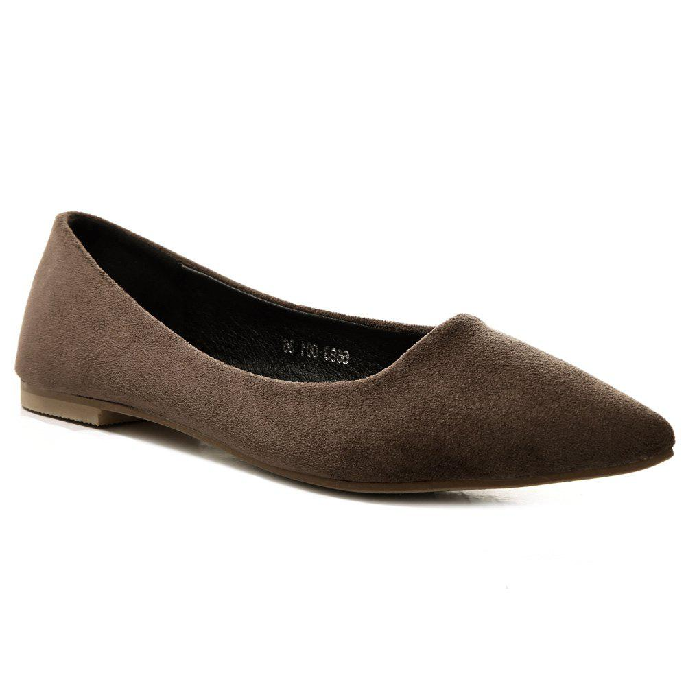 Slip On Pointed Toe Flat Shoes beyarne women shoes fashion pointed toe slip on flat shoes woman comfortable single casual flats spring autumn size 35 41 zapato