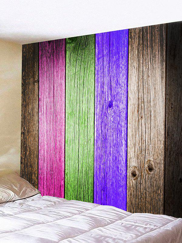 Wooden Bar Pattern Home Decor Wall Tapestry Colorful W71 Inch L71