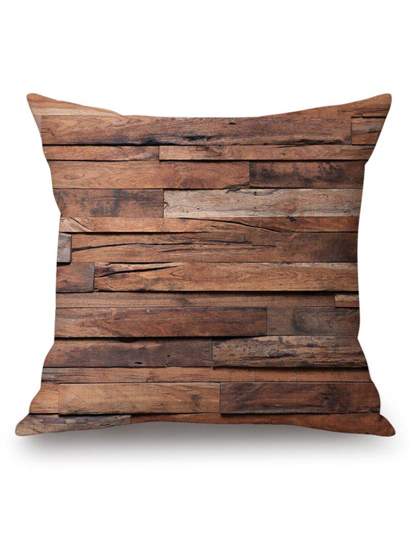 Retro Connective Planks Pattern Pillowcase - BROWN W18 INCH * L18 INCH