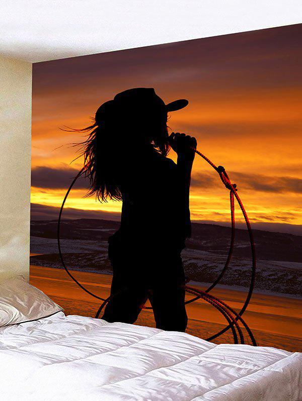 West Cowgirl Shadow Print Wall Decor Tapestry new 2015 cowgirl