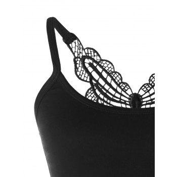Butterfly Cropped Tank Top - BLACK M