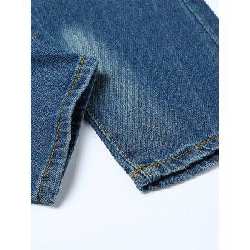 Slightly Faded Destroyed Jeans - BLUE 40