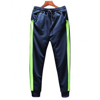 T-shirt Hoodie and Sweatpants Three Piece Suit - BLUE 3XL