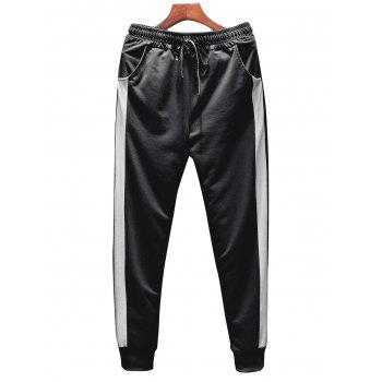 T-shirt Hoodie and Sweatpants Three Piece Suit - BLACK 2XL