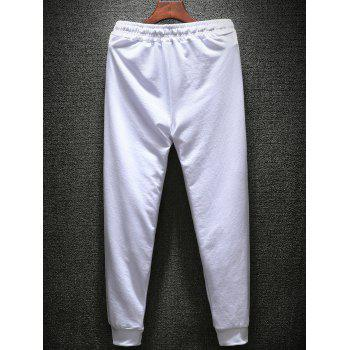 T-shirt Hoodie and Sweatpants Three Piece Suit - WHITE 3XL