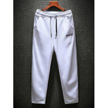 Turndown Collar Printed Tracksuit - WHITE 3XL