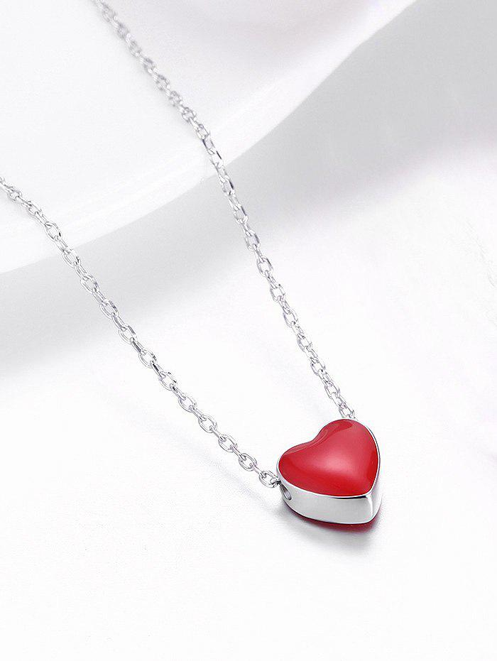 2018 sterling silver tiny love heart pendant necklace silverred sterling silver tiny love heart pendant necklace silverred mozeypictures Images