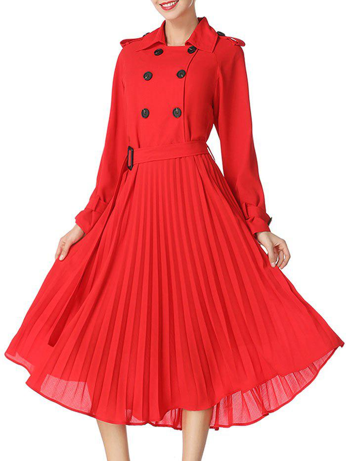 Buttoned Midi Pleated Dress садовый шланг sg3 22 5metres 75