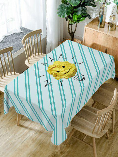Paper Emoji Print Waterproof Dining Table Cloth - COLORMIX W60 INCH * L84 INCH