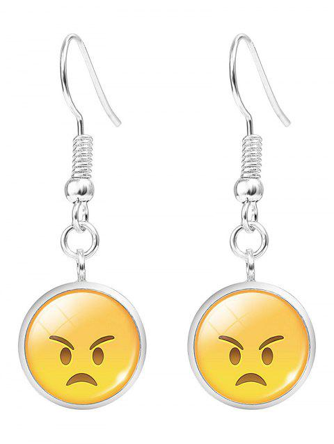 Funny Emoji Face Hook Drop Earrings - PATTERN B