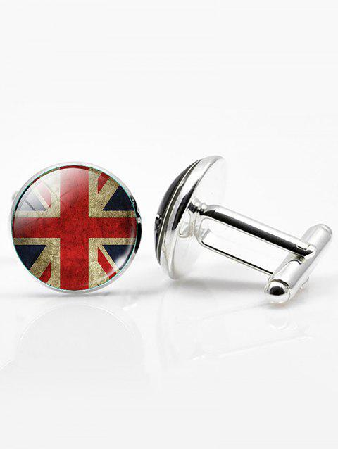 Vintage Alloy Round National Flag Cufflinks - PATTERN A