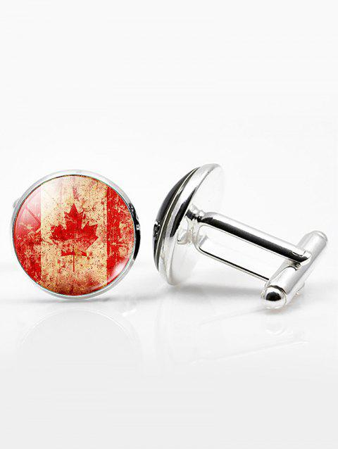 Vintage Alloy Round National Flag Cufflinks - PATTERN E