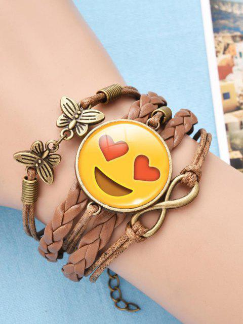 Funny Emoji Face Butterfly Infinite Braid Bracelet - PATTERN C