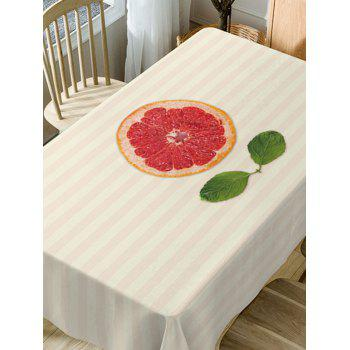 Orange On Striped Print Waterproof Table Cloth - COLORMIX W54 INCH * L54 INCH