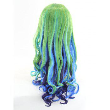 Long Side Bang Wavy Colormix Cosplay Synthetic Wig - COLORFUL