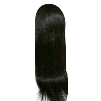 Long Free Part Straight Lace Front Synthetic Wig - NATURAL BLACK