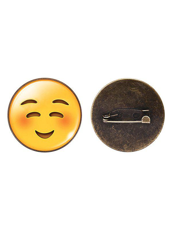1PC Funny Emoji Face Circle Brooch - PATTERN A