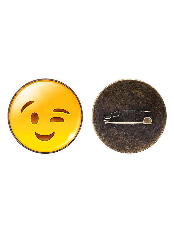1PC Funny Emoji Face Circle Brooch - PATTERN H