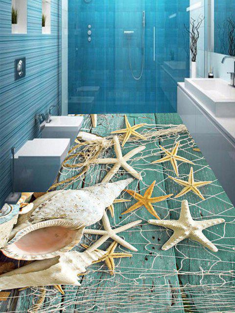 Sea Star Whelk Pattern Home Decor Art Floor Stickers - COLORMIX 7PCS:16*71 INCH