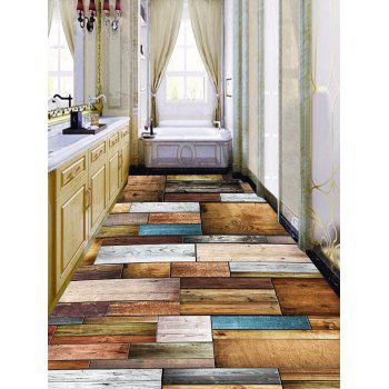 Planks Pattern Home Decor Art Floor Stickers - DEEP BROWN 6PCS:17*63 INCH