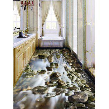 Rill Pattern Removable Floor Art Decals - COLORMIX 6PCS:17*63 INCH
