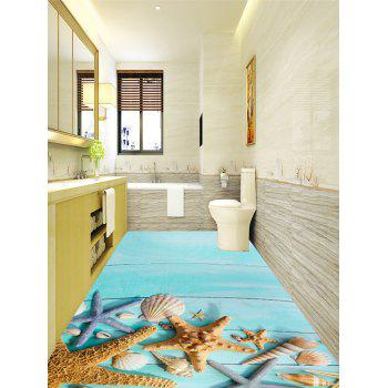 Conch Starfish Pattern Home Decor Floor Stickers - COLORMIX 5PCS:16*39 INCH