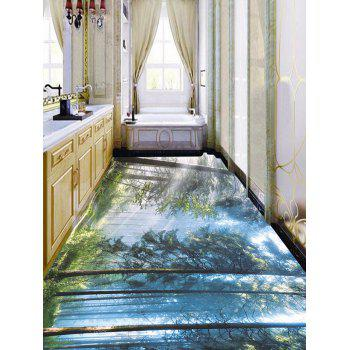 Grove Sunlight Pattern Removable Floor Decals - COLORMIX 7PCS:16*71 INCH