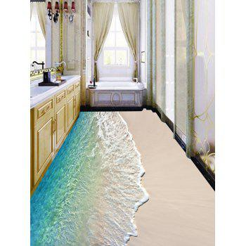 Beach Wave Print Decorative Floor Stickers - COLORMIX 6PCS:17*63 INCH