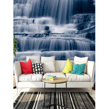 Waterfalls Flow Print Floor Stickers - BLUE GRAY 5PCS:16*39 INCH