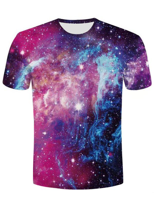 Short Sleeve 3D Galaxy Tee - COLORMIX 4XL