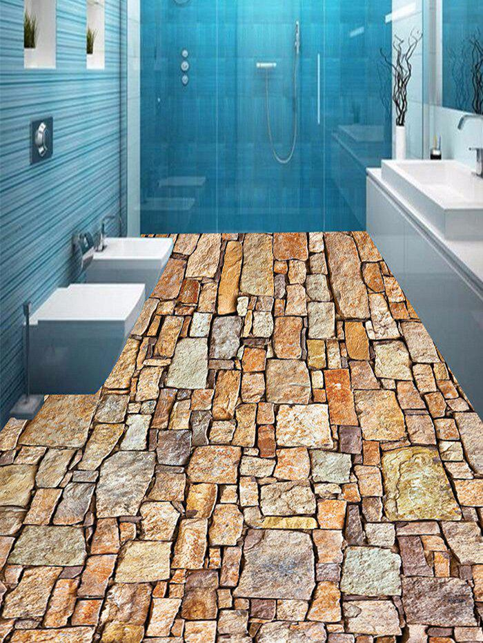 Stone Wall Pattern Home Decor Art Floor Stickers family wall quote removable wall stickers home decal art mural