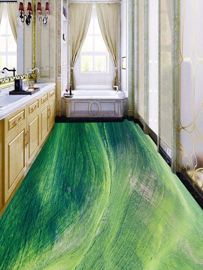 Grasslands Painting Pattern Decorative Floor Stickers - GREEN 6PCS:17*63 INCH