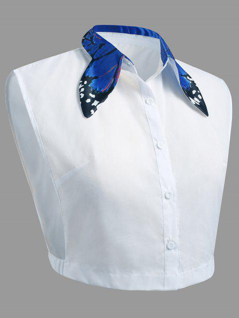 Butterfly Collar Plus Size Detachable Collar - BLUE 2XL