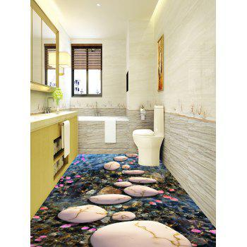 Stream Stone Print Decorative Floor Stickers - COLORMIX 6PCS:17*63 INCH