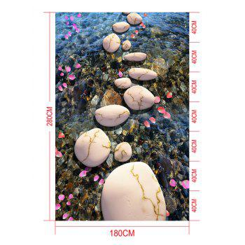 Stream Stone Print Decorative Floor Stickers - COLORMIX 7PCS:16*71 INCH