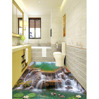 Waterfall Pool Print Decorative 3D Floor Stickers - COLORMIX 5PCS:16*39 INCH