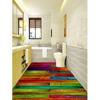 Colorized Plank Pattern Home Decor Art Floor Stickers - COLORFUL 5PCS:16*39 INCH